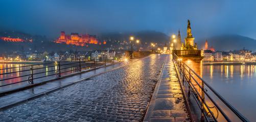 Fotomurales - Heidelberg bei Nacht