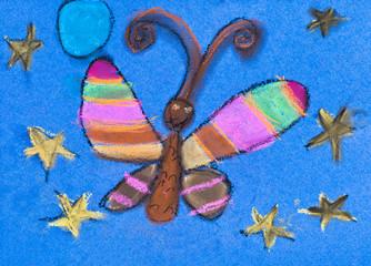 children drawing - night moth