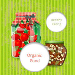 greeting card with wholesome food for your design