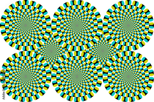 Optische Täuschung Bewegung