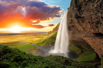 Printed roller blinds Scandinavia Waterfall, Iceland - Seljalandsfoss