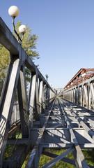 Old bridge in Bratislava, Slovakia, road section