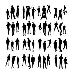 Vector Model Silhouettes of men. Part 5.