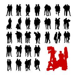 Vector Model Silhouettes of men. Part 10.