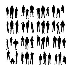 Vector Model Silhouettes of men. Part 3.
