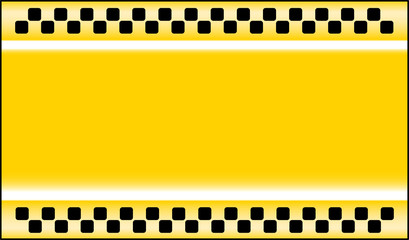 yellow taxi cab background with place for text