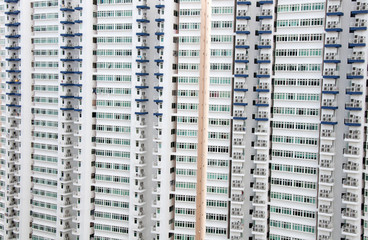 Picture of multiple  apartment  windows  in Singapore