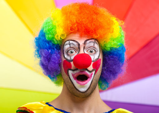 Colorful clown face