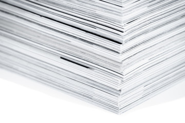 Magazine pages up close