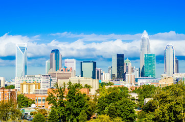 Fotomurales - skyline of a modern city - charlotte, north carolina, usa