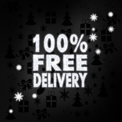 noble 100 percent free delivery label with stars