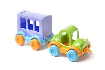 toy car with trailer