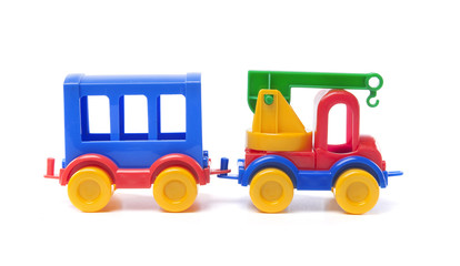 toy truck with trailer