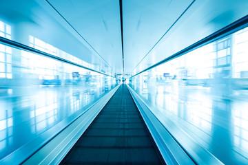 escalator ,interior of airport