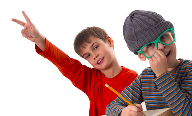 Funny schoolboys