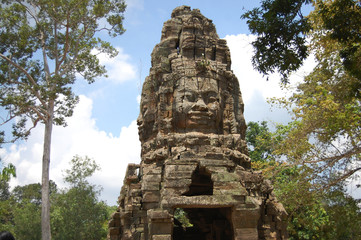 Khmer Angkor Temples Prasat Ta Prohm at Camboia