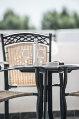 table chair on the veranda