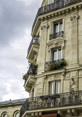 Typical Paris building