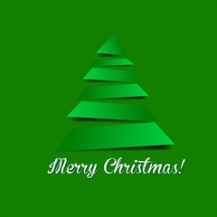 Obraz Vector christmas tree - fototapety do salonu