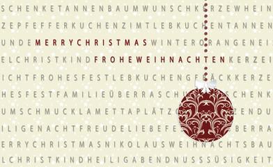 Geschenkpapier mit Weihnachtskugel