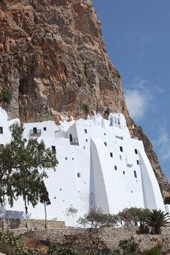 Monastère de Chozoviotissa sur l'île d'Amorgos, Grèce