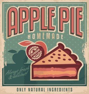 Vintage poster design for homemade apple pie