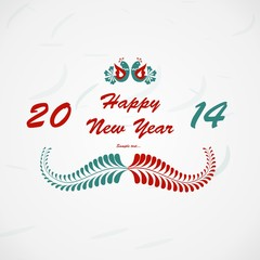 Happy New Year lettering Greeting Card. Vector illustration