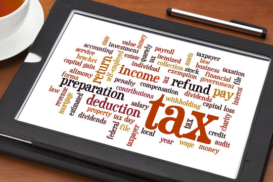 tax  word cloud