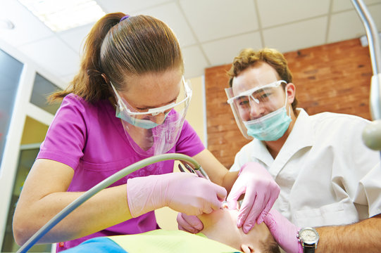 Child teeth treatment under sedation