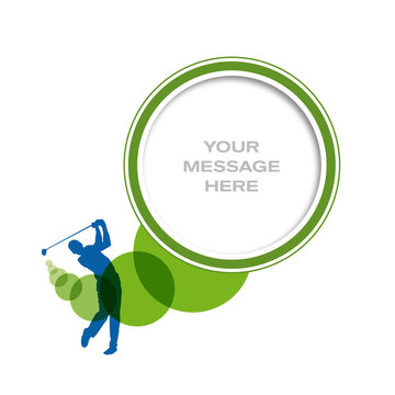 Vector editable poster golf