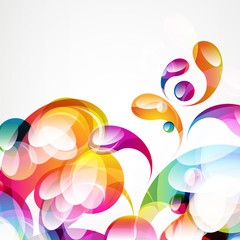 Abstract colorful arc-drop background.