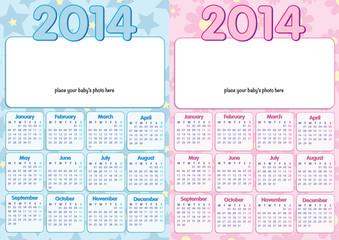 baby calendar 2014 in english