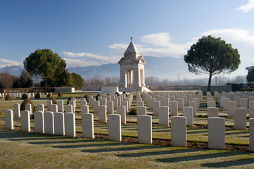 War cemetery at Cassino