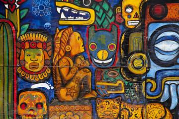Photo sur Plexiglas Mexique Graffiti in a wall in Mexico City
