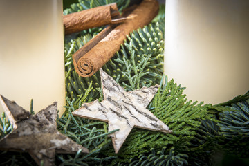 Detail shot of advent wreath