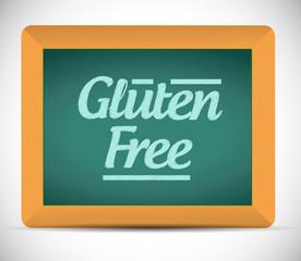 gluten free message written on a blackboard.