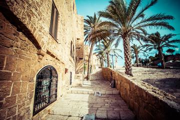 Canvas Prints Narrow alley The old streets of Jaffa, Tel Aviv, Israel