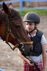 Horse and lovely equestrian girl