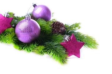 Christmas balls and decorative stars