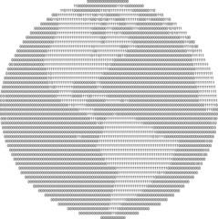 globe by zero and one