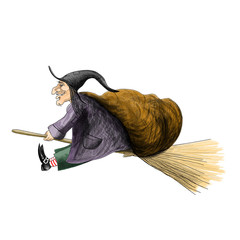 befana, witch on broom