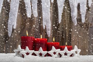 weihnachten adventskerzen