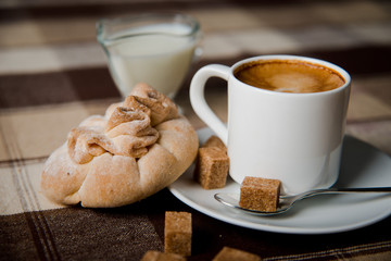 coffee with biscuits
