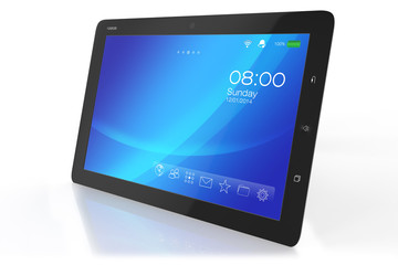 Modern tablet PC with interface