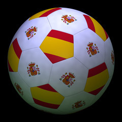 Soccer ball with flag of Spain