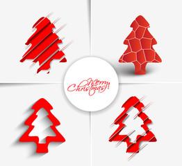 Modern abstract christmas tree vector illustration