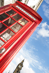 Fototapete - Big ben and red phone cabine