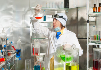 Chemist in the laboratory