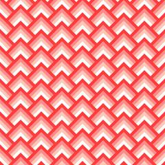 Pink and white chevron geometric seamless pattern, vector