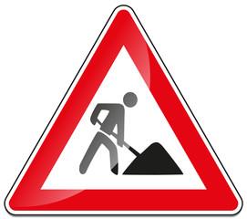 Baustelle Baustellenschild Verkehrsschild Verkehrszeichen